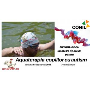 Înotătorul hunedorean Avram Iancu înoată în Râul Dâmbovița timp de 24 de ore pentru a susține copiii cu autism din Asociația CONIL