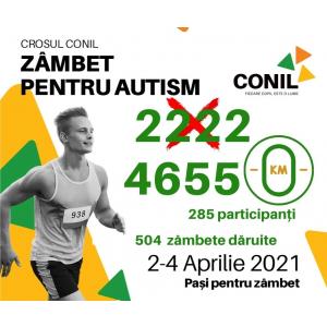 Trei zile pline de zâmbete, speranțe și încredere! 4.635 kilometri alergați la Crosul CONIL,zâmbet pentru autism