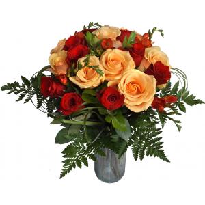 buchet express. Fotografie la primirea buchetului de flori prin Buchet Express