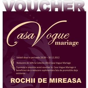 Voucher Casa Vogue Mariage