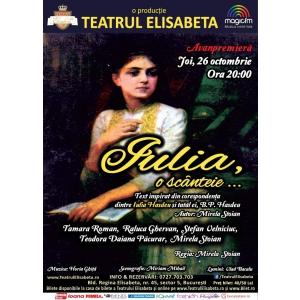 Teatrul Elisabeta lansează o nouă producţie inedită: prima piesă de teatru inspirată din viaţa Iuliei Haşdeu!
