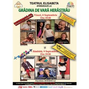 Teatrul Elisabeta deschide stagiunea 2017-2018 cu două spectacole evenimente la Grădina de Vară Herăstrău!