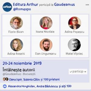 Întâlnește autorii Arthur la Gaudeamus!