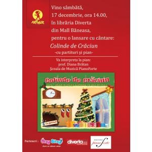 Editura Art te aşteaptă la o lansare cu cântare: Colinde de Crăciun (cu pian)