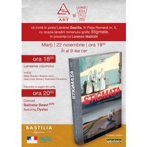 editura grafic. Lansarea romanului grafic Stigmata, in prezenta autorului, Lorenzo Mattotti