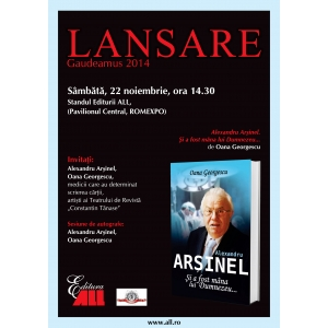 """cazul arsinel. """"Cazul Arsinel"""" – subiectul unei carti lansate, in premiera, la Gaudeamus"""