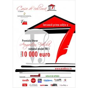 """Premiul literar Augustin Fratila. Editura ALL sprijina Premiul literar """"Augustin Fratila"""" – romanul anului 2011, in valoare de 10.000 de Euro"""