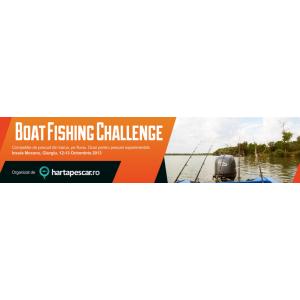 barca. Concurs Boat Fishing Challenge organizat de HartaPescar.ro