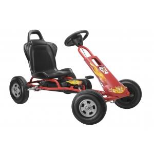 4 pedale. Daca doriti un cart cu pedale va asteptam sa ne vizitati magazinul www.masinute-copii.ro