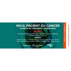 oncolinat tratament cancer. Seminar NOUL PACIENT CU CANCER, 4 directii de tratament, aceeasi miza: VIATA!