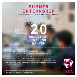 practică. Programul Summer Internship 2014
