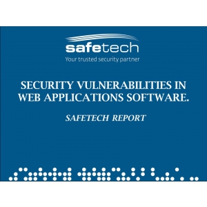 pentest. Security vulnerabilities in web applications software. Safetech Report