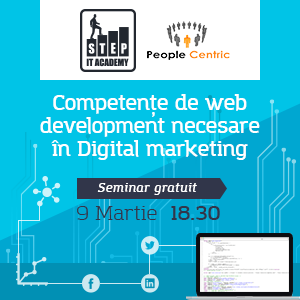 "BMX We the people. STEP IT Academy și People Centric organizează evenimentul ""Competențe de web development necesare în digital marketing"""