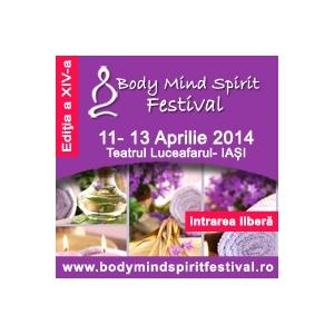 Inscrie-te gratuit la conferintele de duminica 13 aprilie de la Body Mind Spirit Festival Iasi