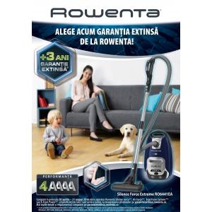 4 ani. Rowenta extinde cu 3 ani garanția pentru aspiratoare