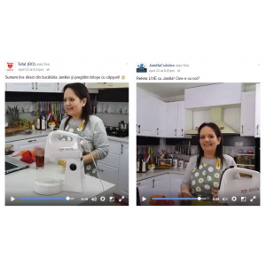 low and slow cooking. Tefal Romania si Jamila Cuisine: Primul live cooking simultan pe doua pagini de Facebook