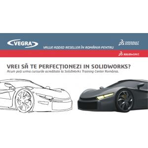 Vegra Info, reseller autorizat SolidWorks în România, organizează cursuri acreditate de SolidWorks!
