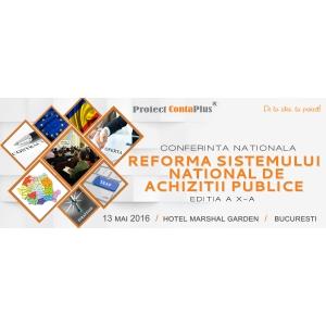 """conferinta stiintifica. Conferinta Nationala """"Reforma sistemului national de achizitii publice"""