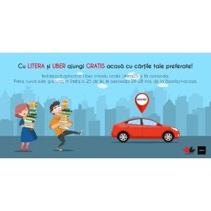 Cu Litera și Uber ajungi gratis acasă cu cărțile tale preferate!