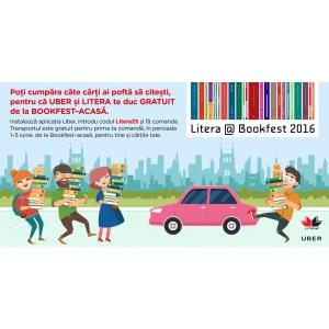 priciclete cu transport gratuit. Litera și Uber îți asigură transportul gratuit de la Bookfest – acasă!