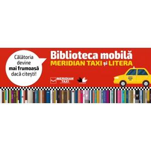 biblioteca in taxi. Biblioteca mobila Meridian Taxi si Litera