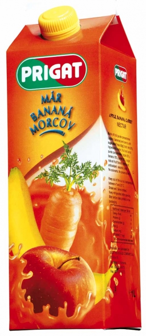 ulei de morcov. Gama Prigat se imbogateste cu noul  Prigat Nectar mar, banana, morcov