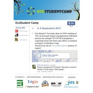 ecostudent camp. EcoStudent Camp - imbinarea project management-ului cu ecologia.