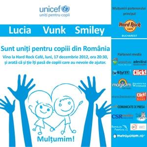 UNICEF: sunt sute de mii de copii vulnerabili in Romania care au nevoie de sprijin. Lucia, Vunk si Smiley canta pentru a-i ajuta!