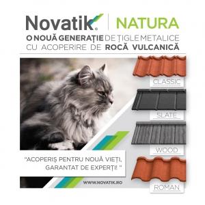 Novatik NATURA – o noua generație de țigle metalice cu acoperire de rocă vulcanică