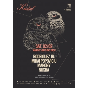 Nusha. Mahony's Birthday Bash Event Poster