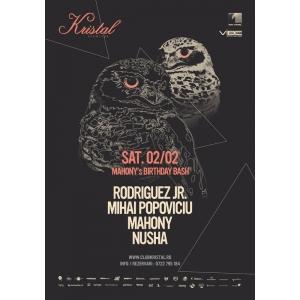 Mahony. Mahony's Birthday Bash Event Poster