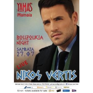 euphoria music hall. Sambata, 27 Iulie 2013, Yamas Live Club Mamaia il prezinta pe Nikos Vertis, steaua de la Posidonio Music Hall!