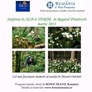 program turistic 2013. PROGRAM TURISTIC -Simfonie în ALB si VERDE în Regatul Primăverii...