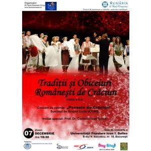 traditii. EVENIMENT pentru COPII si PARINTI ''Traditii si Obiceiuri Romanesti de Craciun'' , 07 decembrie 2012, Bucuresti - INTRAREA LIBERA