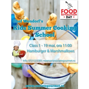 Chef Wendorf incepe Kids Summer Cooking School, iar primul curs sta sub insigna internationala Food Revolution Day