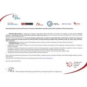 asociatia pro refugiu. Lansare proiect Sansă si Provocare-Imbunătăţirea serviciilor sociale oferite victimelor traficului de persoane