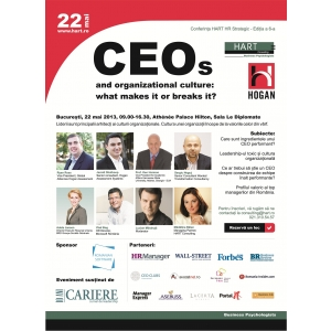 cultura organizationala. Conferinta HART HR Strategic - 22 mai