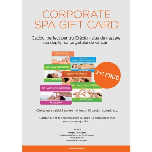 beneficii angajati. Oferta Spa Gift Card 2+1 free