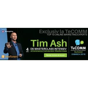 """TeCOMM îl aduce în România pe Tim Ash: """"Marketerii online nu obțin rezultatele maxime din campanii pentru că se concentrează doar pe tehnologie"""""""