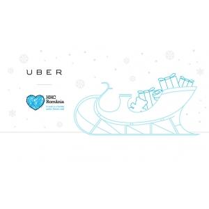 Pe 20 decembrie Uber preia gratuit donatii pentru copii