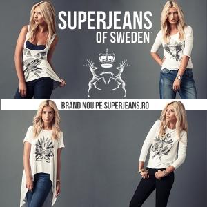 superjeans of sweden. ERIKA, JENNY, IVANNA și MALIN sunt numele celor patru produse ale brandului SuperJeans of Sweden, ce pot fi găsite în exclusivitate în România, pe www.SuperJeans.ro începând cu 1 august 2013.