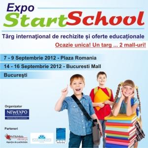 Expo Start School - Târg internaţional de rechizite şi oferte educaţionale 7 - 9 Septembrie Plaza Romania si 14 -16 Septembrie 2012 Bucuresti Mall