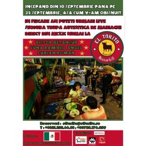 mexic. ZIUA MEXICULUI – DIA DE LA INDEPENDENCIA @ EL TORITO cu MARIACHI DIN MEXIC