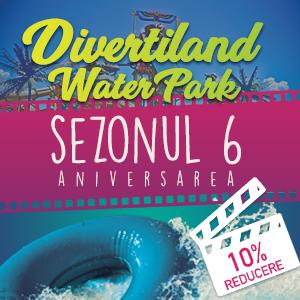 Reducere de 10% la biletele online pentru ziua aniversarea Divertiland Water Park