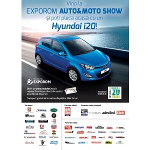 Câștigă o mașină! Vino la EXPOROM Auto&Moto Show și poți pleca acasă cu un Hyundai i20