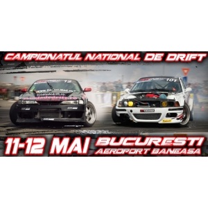 campionat national drift. Peste 40 de piloţi vor lua startul la cea de-a doua etapă din cadrul GTT Drift Championship 2013
