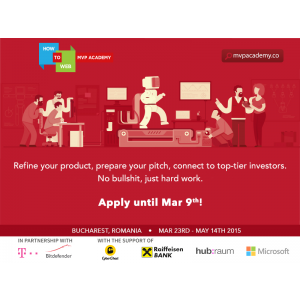 pre. Telekom Romania susţine programul de pre-accelerare MVP Academy