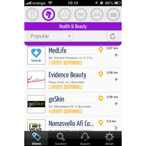 geolocatie. Wallet Buzz screenshot - Health & Beauty