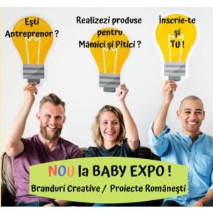 BABY EXPO sustine si promoveaza Brandurile Creative si Proiectele Romanesti !