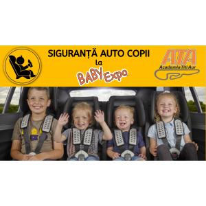 In premiera - SIGURANTA AUTO COPII la BABY EXPO
